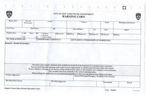 marijuana warning cards